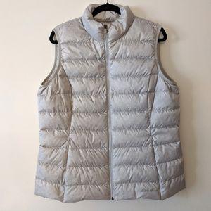 Eddie Bauer Gray Goose Down Puffer Vest XL